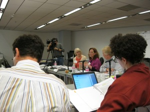 Councilwomen Sally Bagshaw address the Elephant Task Force on May 29th, 2013 at the Seattle Central Library