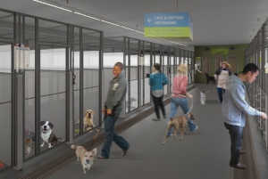 Artist concept of the Seattle Animal Shelter renovations (photo courtesy of SAS)